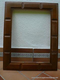 Decorar un viejo espejo de estilo castellano