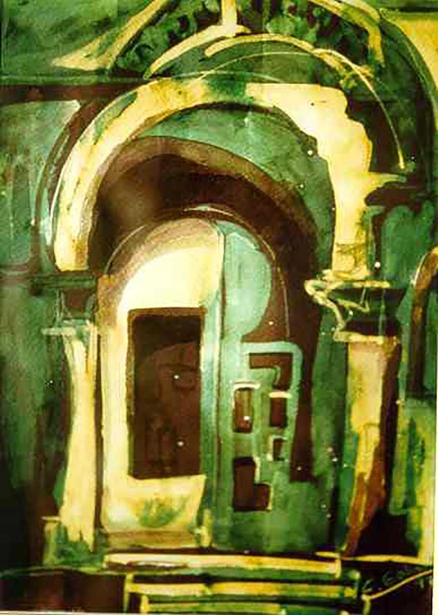 Estudio de puerta románica